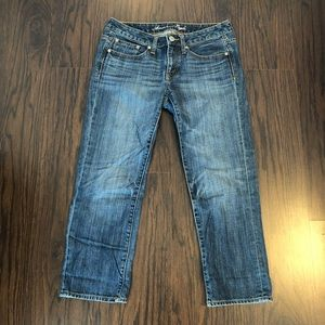 American eagle jeans boy fit cropped size 32W